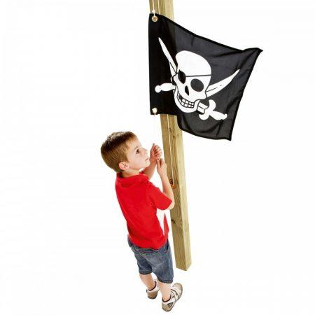 Kalózos zászló felvonó szerkezettel