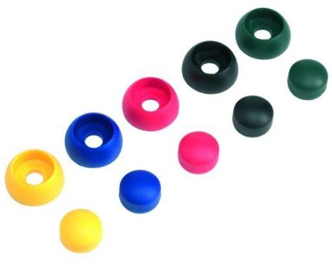 Csavartakaró gomb műanyag - fekete